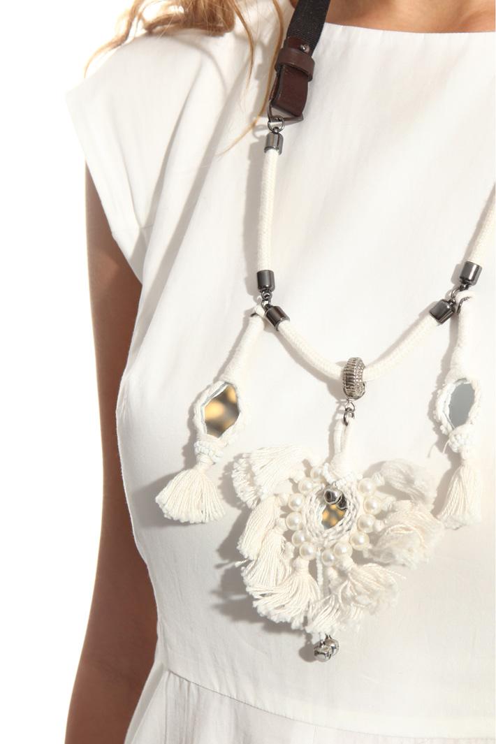 Collana con frange e specchi Fashion Market