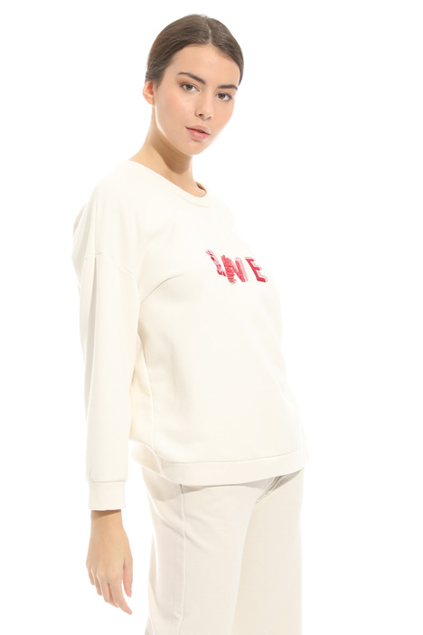 Felpa in jersey con ricamo Fashion Market