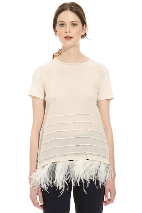 Top con piume staccabili Fashion Market