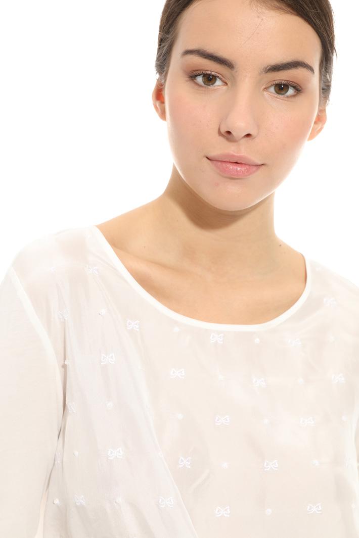 Maglia con seta ricamata Fashion Market