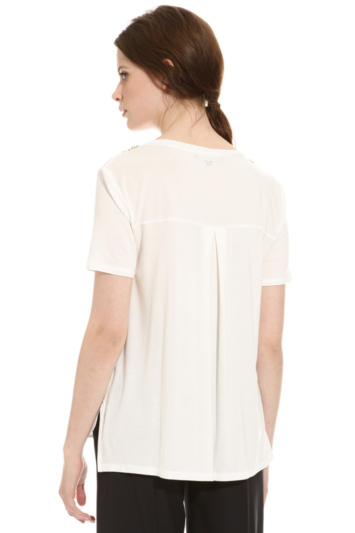 T-shirt con pietre ricamate Fashion Market