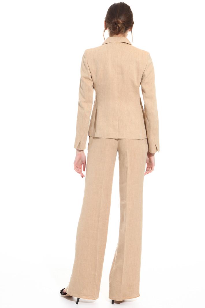 Blazer in lino e ramié Fashion Market