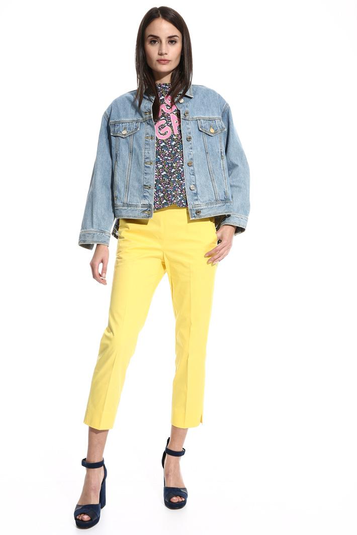 Giacca in jeans con ricamo Fashion Market