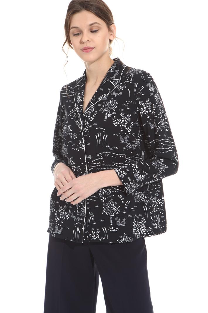 Camicia in sablé stampato Fashion Market