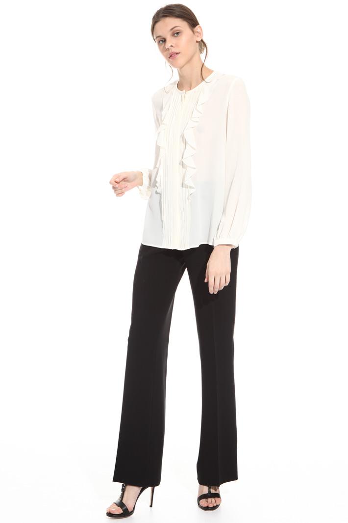 Camicia in seta con ruches Fashion Market