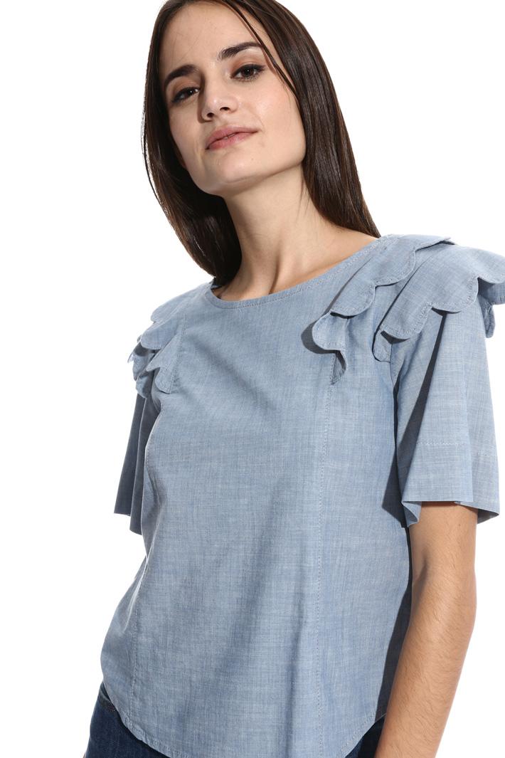 Casacca in chambray di cotone Fashion Market