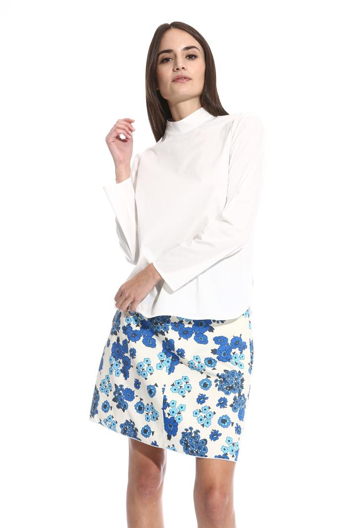 Blusa in popeline e jersey Fashion Market