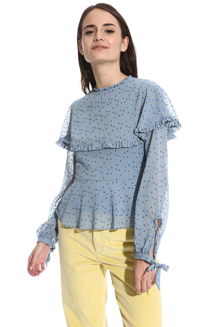 Blusa con stampa flock Fashion Market