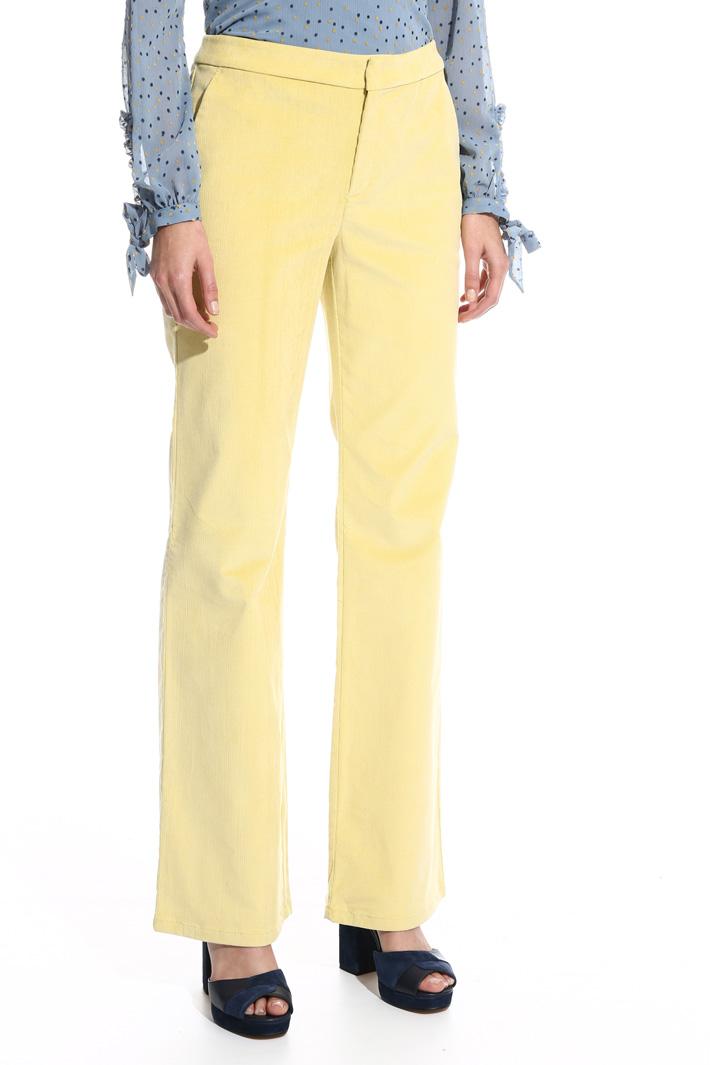 Pantalone lungo in velluo Fashion Market
