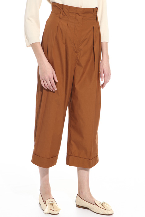 Pantalone cropped in cotone Fashion Market