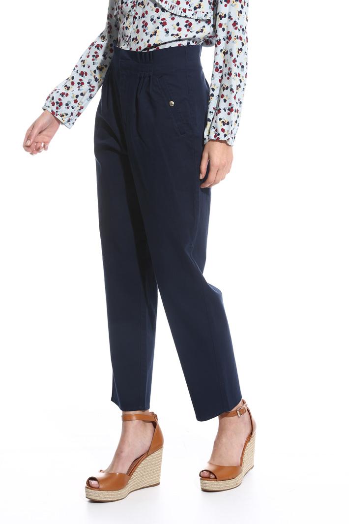 Pantalone dritto a vita alta Fashion Market