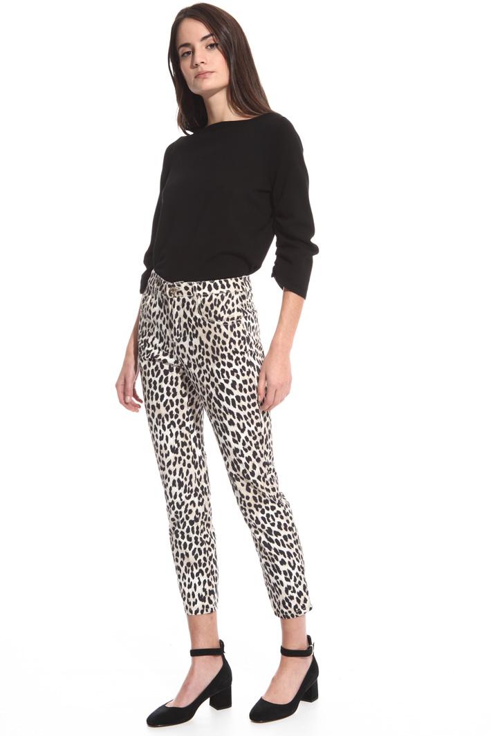 Pantalone aderente stampato Fashion Market
