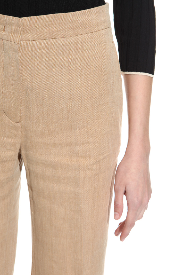 Pantalone in lino e ramié Fashion Market