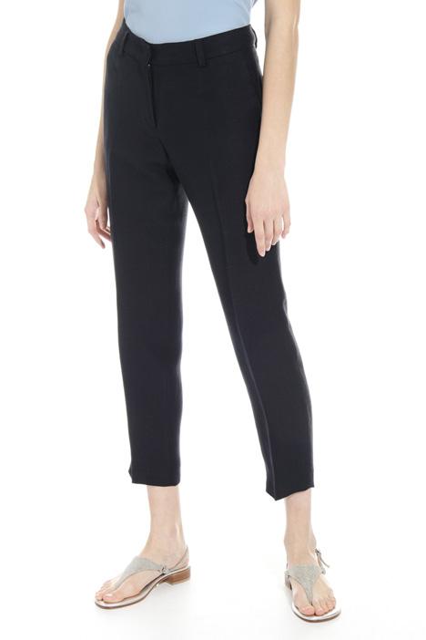Pantalone in twill misto lino Fashion Market
