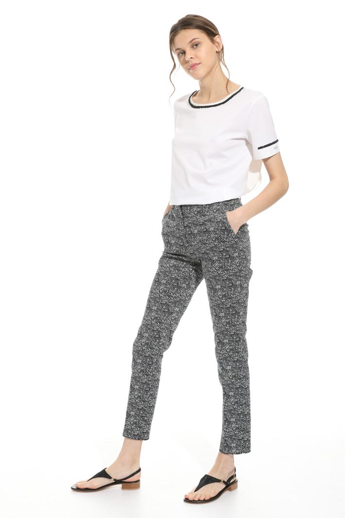 Pantalone in cotone stampato Fashion Market