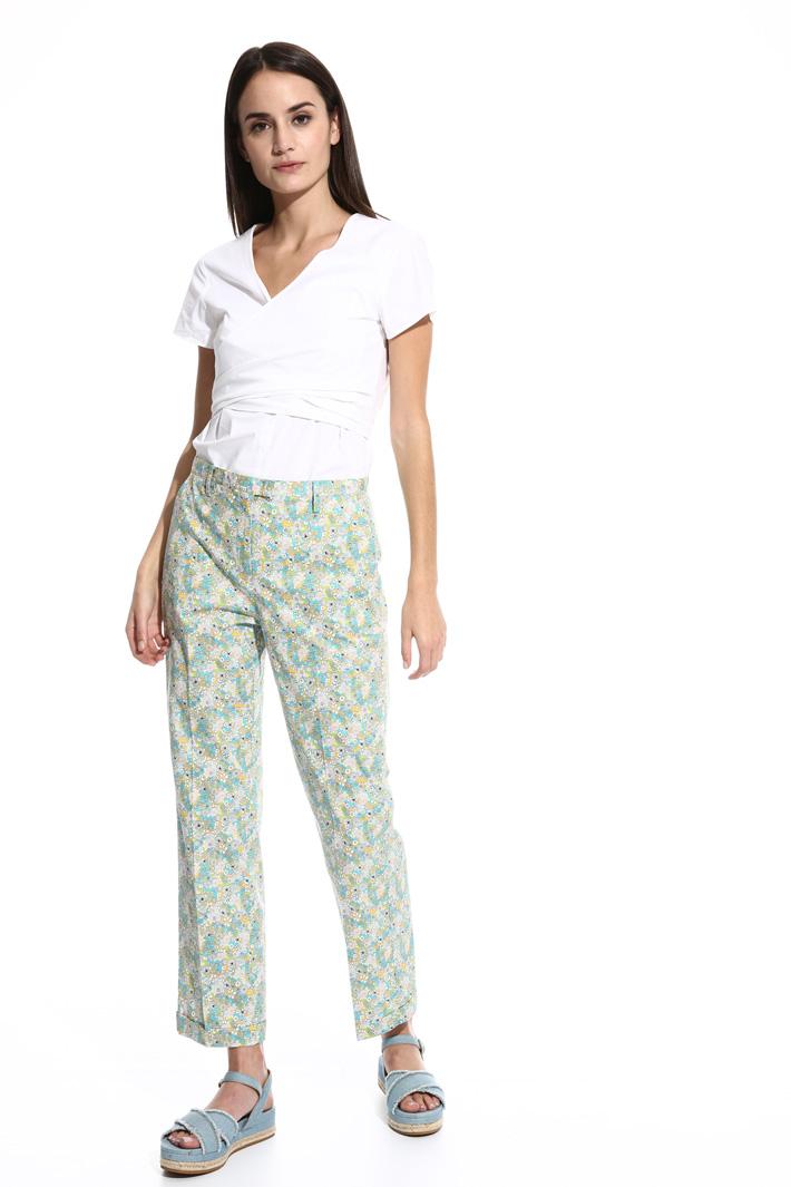 Pantalone dritto in popeline Fashion Market