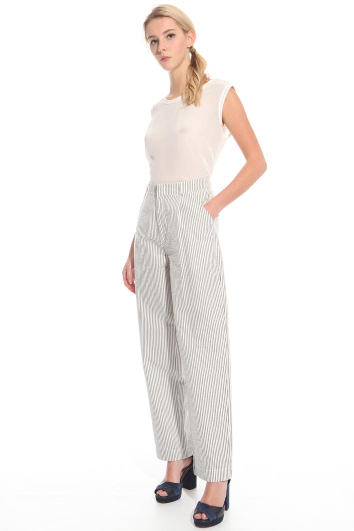 Pantalone in seersucker Fashion Market
