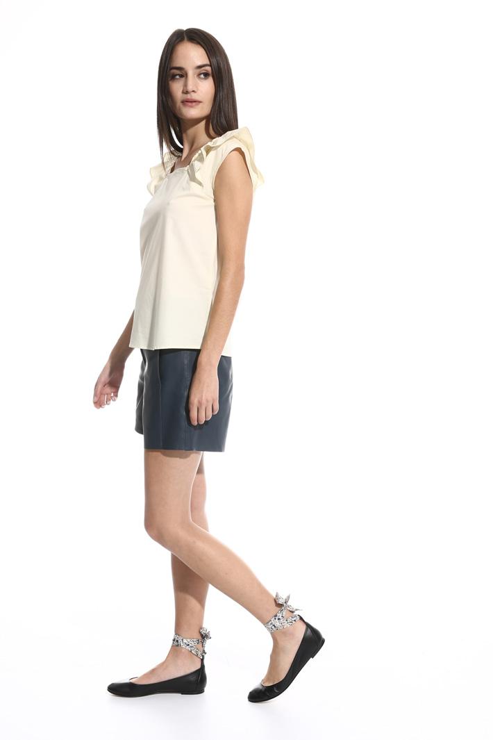 Top con maniche ad aletta Fashion Market