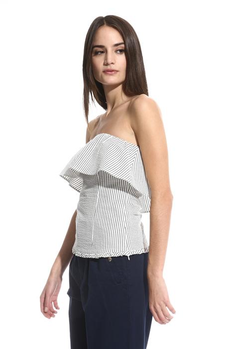 Top in seersucker di cotone Fashion Market