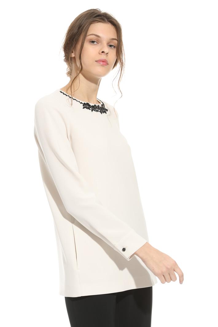 Casacca in cady con ricamo Fashion Market