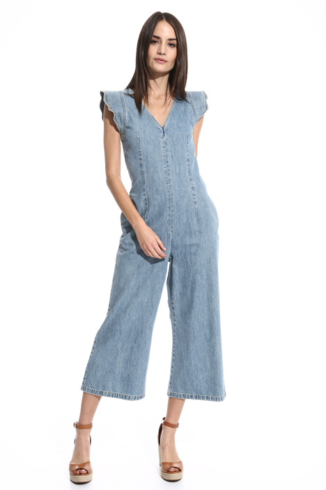 Tuta cropped in denim Fashion Market