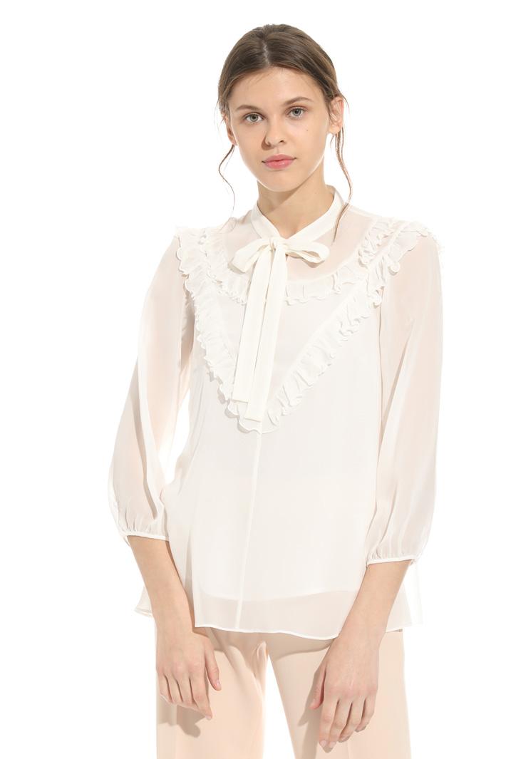 Blusa in seta con ruches Fashion Market