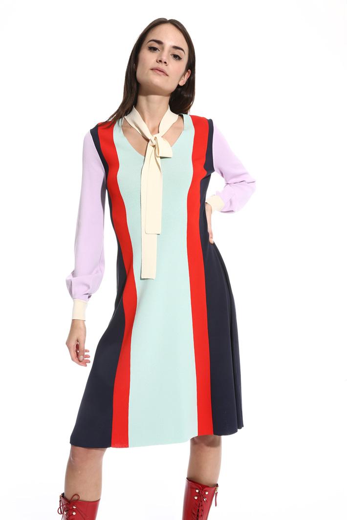 Abito in maglia color block Fashion Market