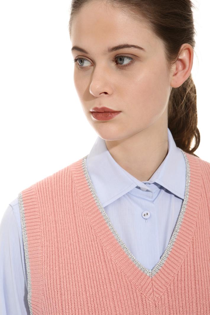Gilet con profili lurex Fashion Market
