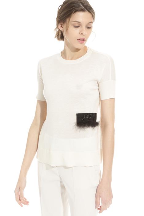 Maglia con ricamo rimovibile Fashion Market