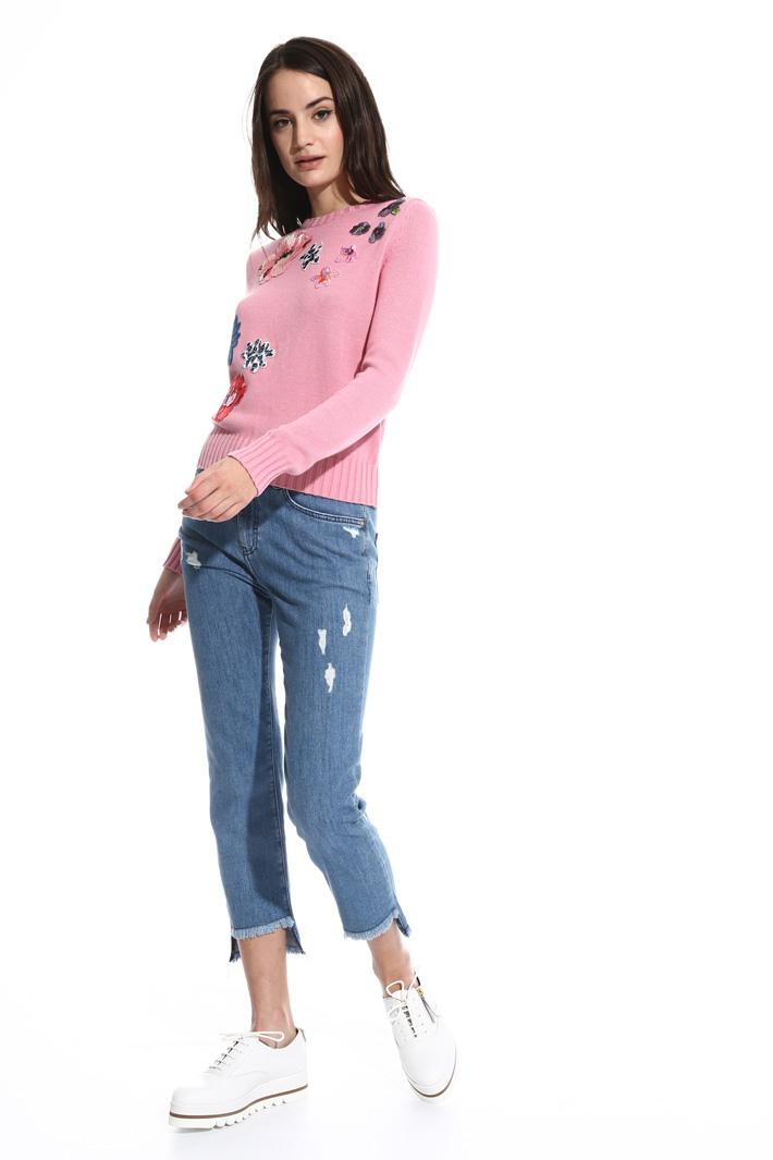 Maglia girocollo in cotone Fashion Market
