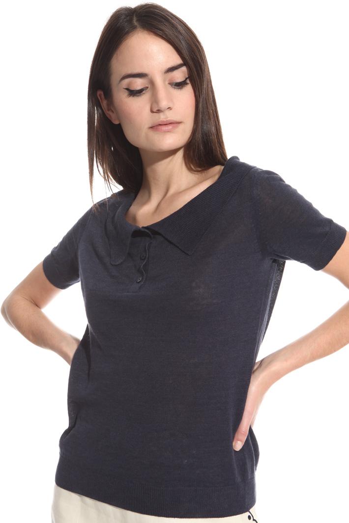 Maglia polo in lino Fashion Market