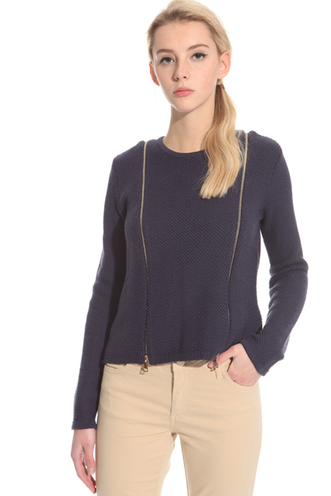 Maglia in lana con zip Fashion Market