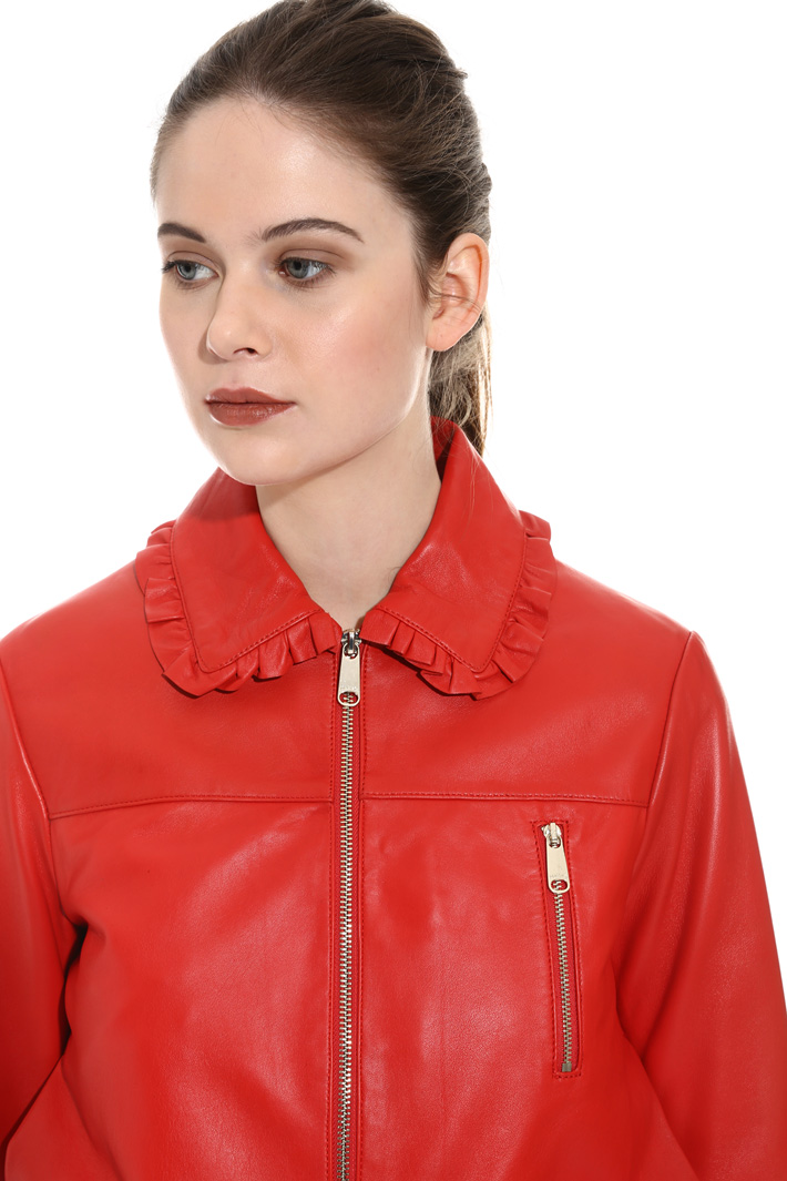 Giacca bomber in pelle Fashion Market