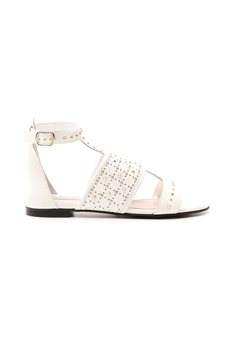 Sandalo flat con borchie Fashion Market