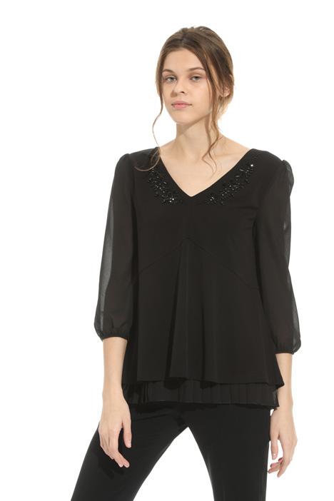 Blusa in jersey con ricamo Fashion Market