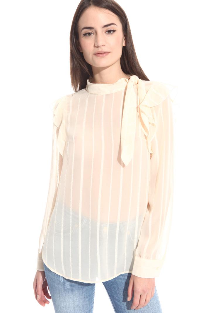 Blusa in crepe operata Fashion Market