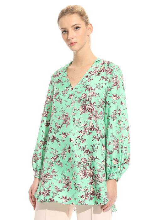 Maxi blusa in twill Fashion Market