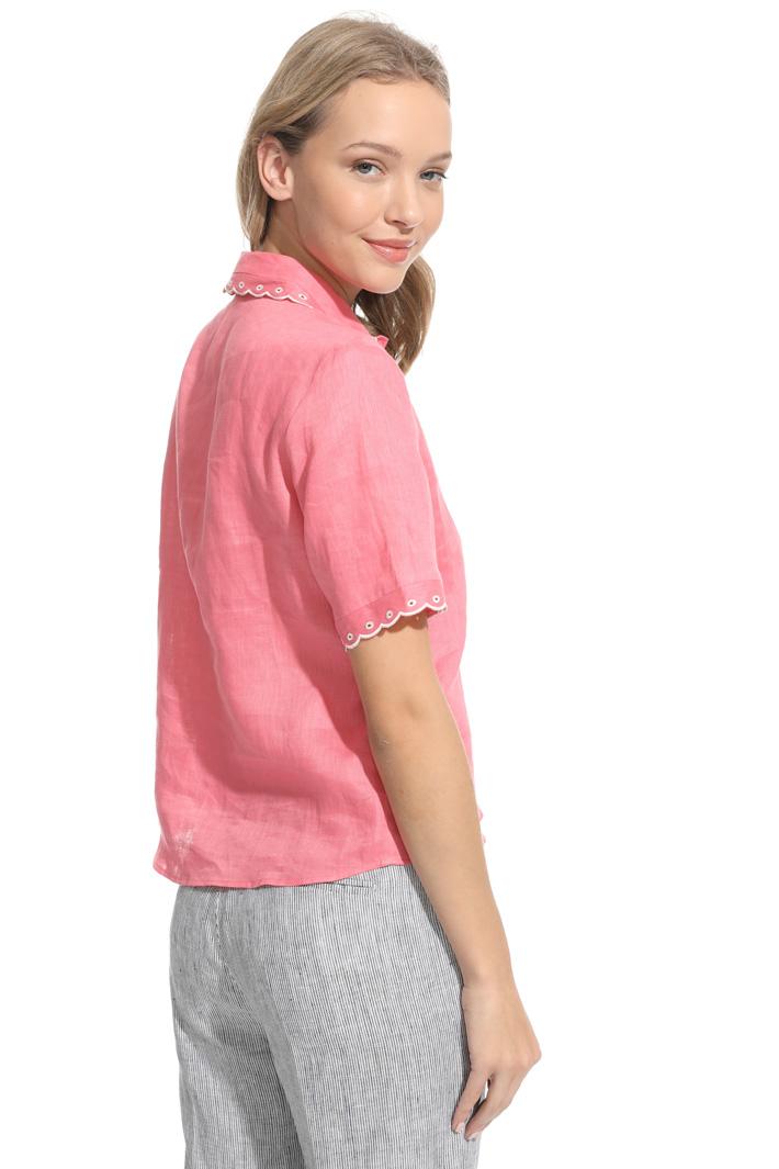 Camicia in lino ricamato Fashion Market