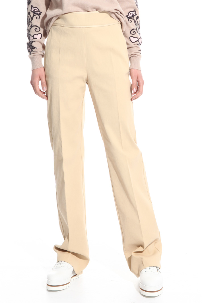 Pantalone in cotone cannetté Fashion Market