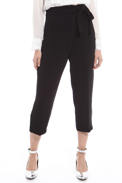 Pantalone carrot a vita alta Fashion Market
