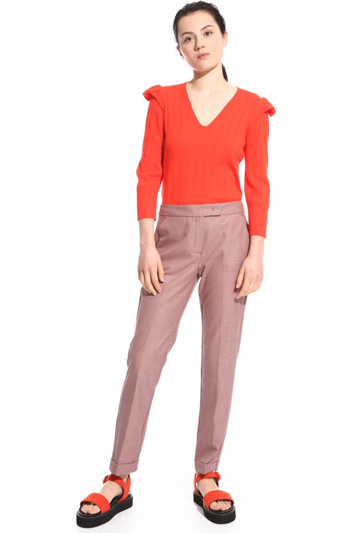 Pantaloni con micro fantasia Fashion Market