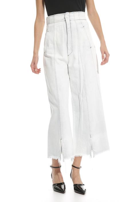 Jeans sfrangiato a vita alta Fashion Market