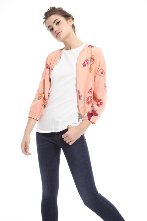 Bomber in crepe de chine Fashion Market