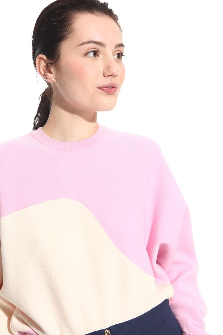 Maglia a blocchi di colore Fashion Market
