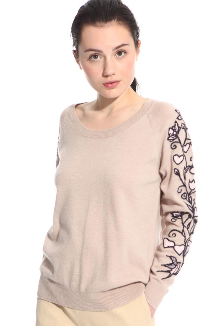 Maglia misto lana con ricami Fashion Market