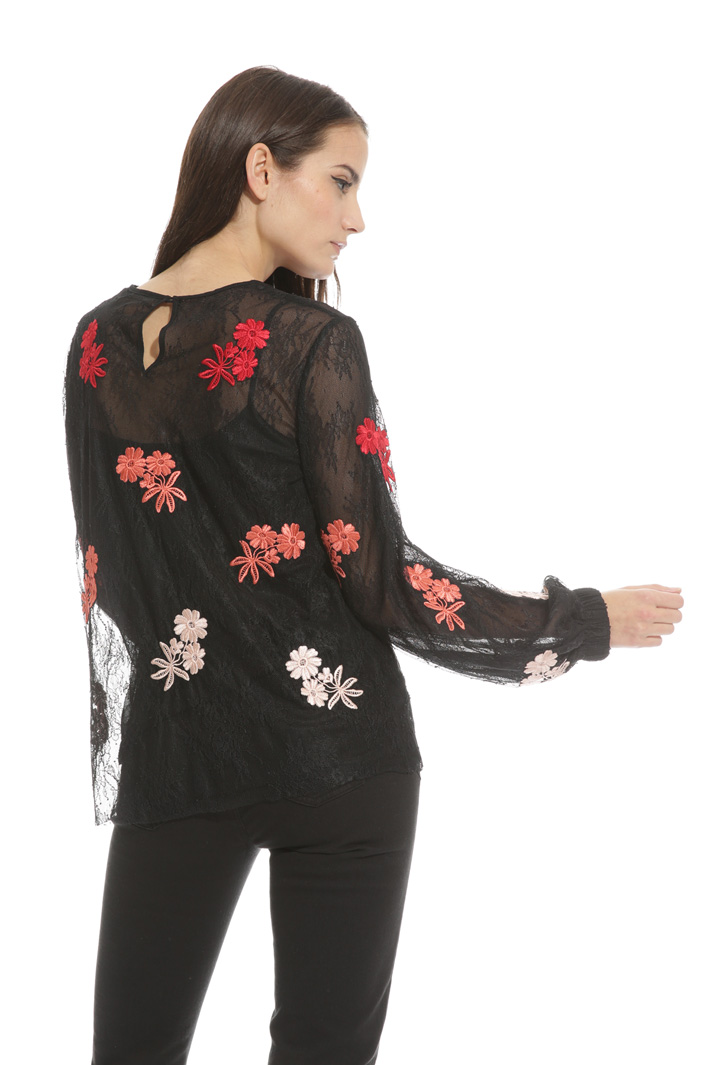 Blusa in tulle stretch Fashion Market