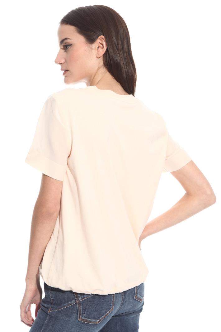 T-shirt con arriccio al fondo Fashion Market