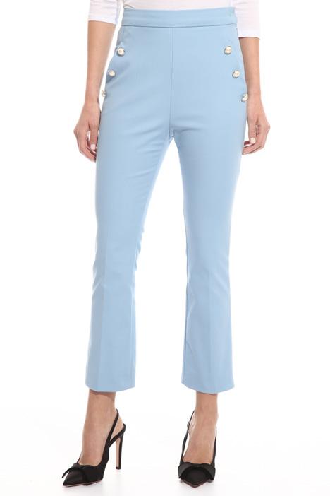 Pantalone con bottoni perla Fashion Market