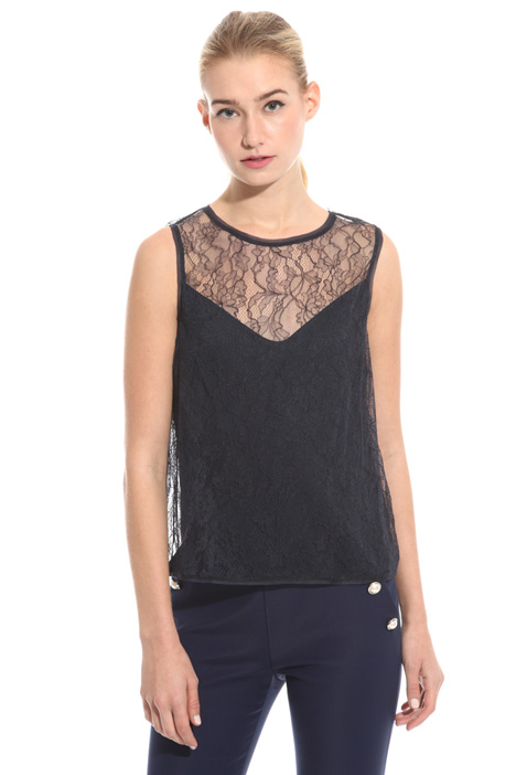 Top in pizzo chantilly Fashion Market