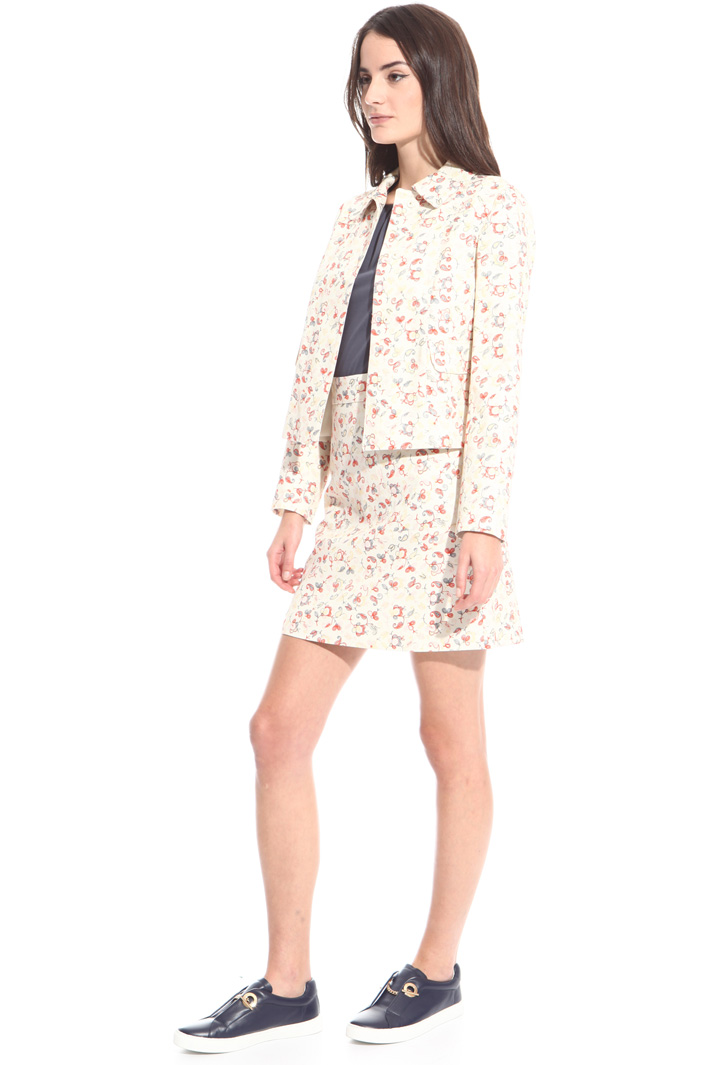 Giacca in piquet stampato Fashion Market